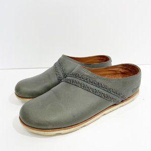 Chaco Harper Slide Castlerock Leather Clogs 7.5